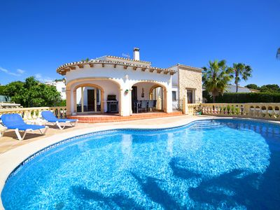 Photo for This 3-bedroom villa for up to 7 guests is located in Calpe and has a private swimming pool, air-con