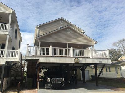 Photo for Beautiful Beach House includes Golf Cart