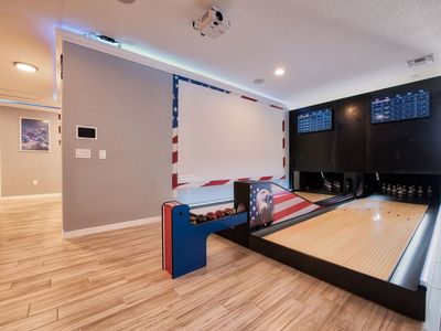Photo for 14 Bedrooms with x2 BOWLING Lanes, x4 Projectors and Themed bedrooms. 7016