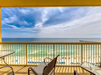 Photo for High rise condo with 2 shared pools, private balcony and beach access!