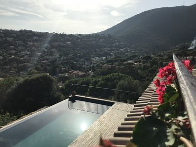 Photo for Luxury villa La Genette. Sea view. Heated pool. Linen and cleaning included.