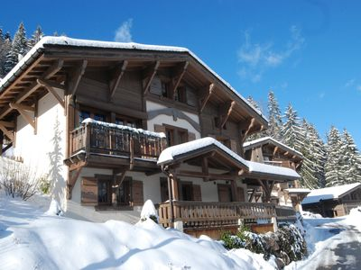 Photo for Chalet Chardon offers charm and tradition with a cosy, welcoming atmosphere.
