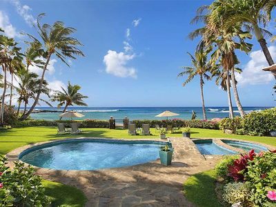 Photo for Only Vacation Beachfront Home on Poipu Beach.. Swimming Pool and Hot Tub!