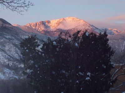 Photo for Spectacular view of Pikes Peak! Walk out your front door into Garden of the Gods