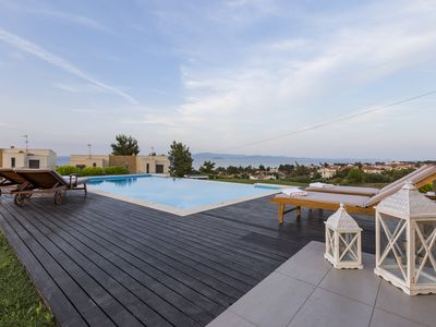 Photo for OMG Villa - 2 Private Pools, Garden, BBQ, Amazing Sea Views