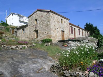 Photo for Stone cottage with large lot overlooking the estuary of Muros y Noia