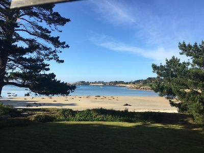 Photo for Exceptional location directly on the beach, large garden and sea view