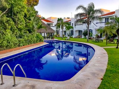 Photo for Luxury Private Villa with pool in private and safe gated community PlayaCar