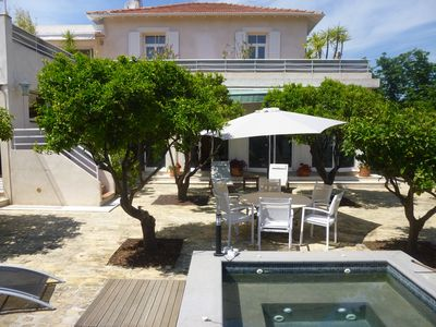 Photo for The Orangeraie, 4 bedroom villa, large living room, garden and terraces facing south