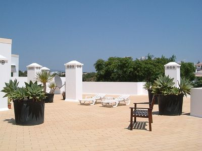 Photo for Apartment with Large, Private Roof Terrace and Shared Pool.