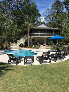 Photo for Sea Pines, 2nd Row, 4BR, Private Pool & Spa,  Sleeps 11