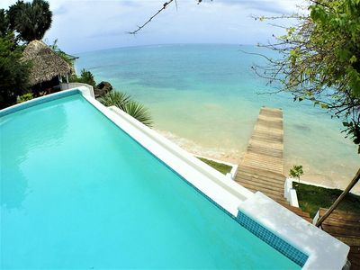 Photo for BEACHFRONT VILLA, FULLY STAFFED, JAMAICA,Culloden Cove,South Coast 4BR