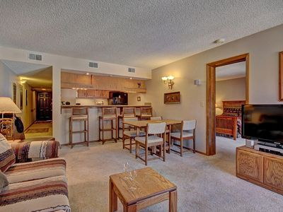 Photo for Cozy Condo in Gorgeous Mountain Setting.  HDTV, Outdoor Hot Tubs & Stunning Summer Views. FREE a