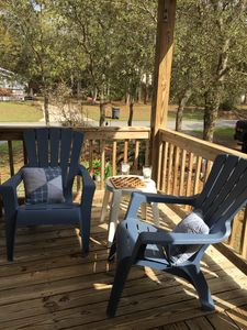 Enjoy a glass of iced tea on the porch with a book or play a game of checkers!