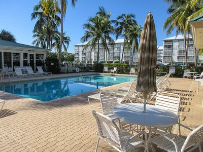 Photo for Exclusive Island Beauty 3B/2B Hibiscus Pointe Condo Overlooking Estero Bay, Walk to Beach, Heated Pool