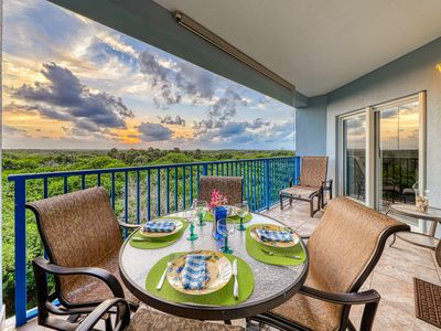 Photo for Sunsets galore from private balcony w/ a shared heated pool, hot tub, & gym