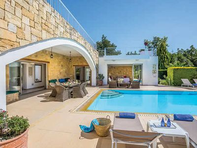 Photo for Modern-style villa w/ private pool, BBQ, Jacuzzi room + free Wi-Fi & A/C