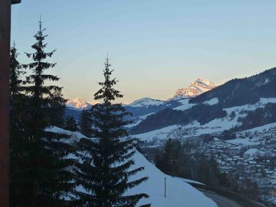 Photo for 3 rooms apartment in a chalet with beautiful views of mountains and Megeve