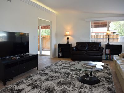 Recently remodeled private three bedroom two full bath on quiet cul de sac
