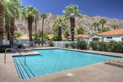 One of the many community pools, just around the corner from this executive home