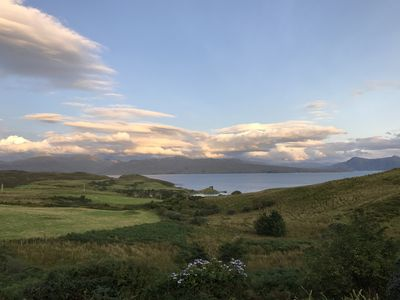 View from the cottage - overlooking Knock Castle in the bay