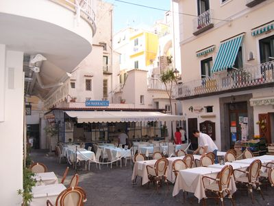 Photo for SCIROCCO APARTMENT - CENTER OF AMALFI WITH TERRACE