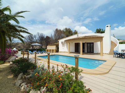 Photo for 2 bedroom Villa, sleeps 4 in Javea with Pool, Air Con and WiFi