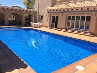 Photo for Fabulous 5 Bedroom modern Villa in the centre of Cabo Roig with Privale Pool