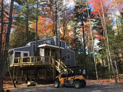 Photo for Treehouse near Bar Harbor. Luxurious and private!