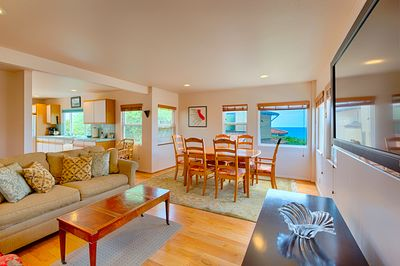 Welcome to this open inviting cottage with an open floor plan and great ocean (and sunset) views.