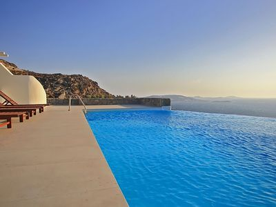 Photo for Panoramic Agapi Villa, in Mykonos, with private pool, 4 bedrooms, 8 sleeps