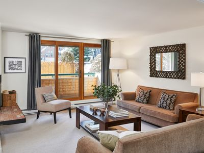 Photo for 1st fl. Riverview Condo 3 blocks to downtown Aspen and 6 to gondola