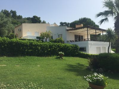 Photo for Stylish & peaceful villa with big garden and bbq combining mountain and sea view