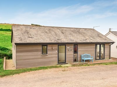Photo for Modern 2 Bed Beach Chalet in Eype, near Bridport. Unspoilt beach. Dog friendly.