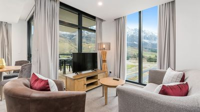 Photo for Wall to Ceiling Mountain Views | Private Balcony | Modern and Immaculate
