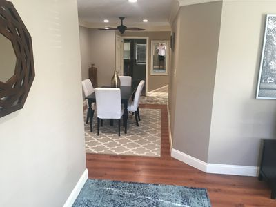 View of dining area from living area