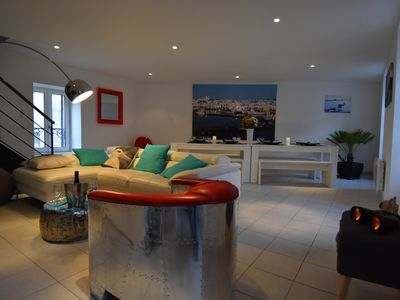 Photo for Villa on the port, sleeps 8, sea view