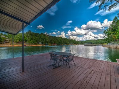 Photo for Lakefront*Pontoon Boat*Hot Tub*Swim Platform*Firepit