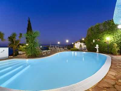 Photo for Villa Bianca with Private Swimming Pool, Sea View, Terraces, Parking and Barbecue