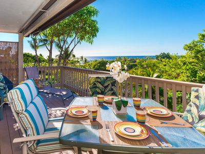 Photo for 2-Story Condo w/ Partial Ocean View, Private Lanai, BBQ, Complex Pool