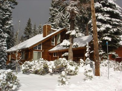 Outside view in the snow