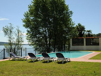 Photo for 2 bedroom Apartment, sleeps 3 in Meina with Pool