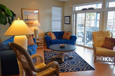 Living Area Opens to Large Covered Deck on Ocean Side