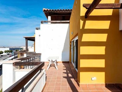 Photo for Homerez last minute deal - Nice apt with shared pool and terrace