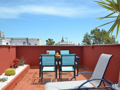 Photo for Triana Terrace. 1-bedroom, roof-top terrace