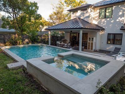 Photo for Modern design brand new home in Zilker with pool, hot tub and chef's kitchen!