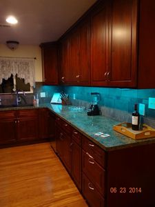 kitchen, granite finish