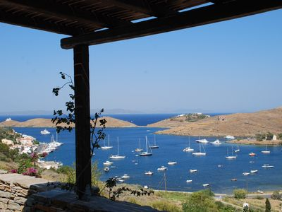 Photo for Villa Faros - stunning villa with incredible views of Vourkari and the Aegean