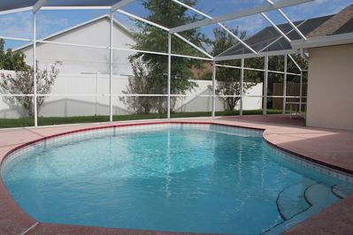 The inviting, solar heated pool