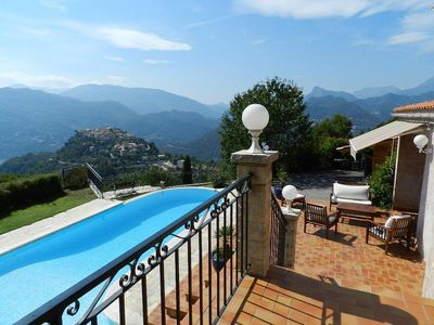 Photo for Large villa rental 20 km from Nice with 180 degree sea and mountain views .....